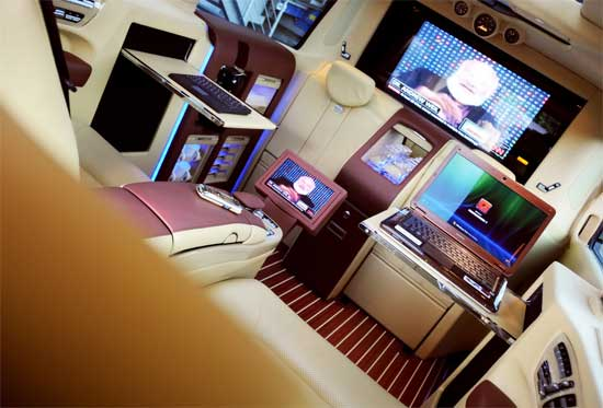 2010 Brabus Mercedes Benz Viano Lounge thumb 550x373 24771 The most high tech car interior weve ever seen