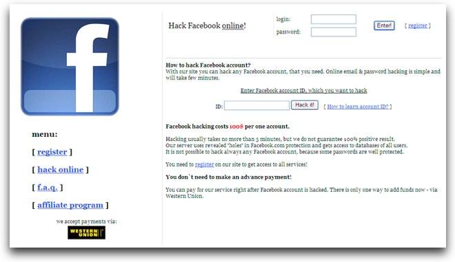 SCAM: Ukrainian hackers promise access to facebook profiles