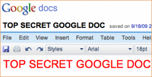 googledocsecret1 300x152 Google ready to unleash spiders and expose your Google Docs