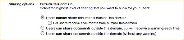 Google Docs Security Options