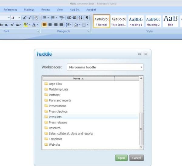 huddle_MSOffice