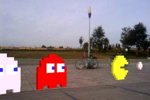 Layar 3D Pacman