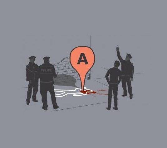 Map marker Death