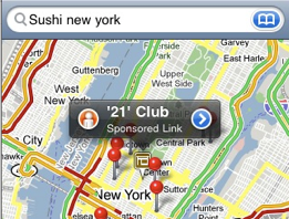 Screen shot 2009 10 02 at 23.16.29 Google spamming iPhone Maps with ads?