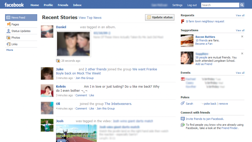 first Confirmed: Facebook design refreshment in the works [Screenshots] (updated)