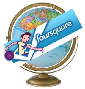 foursquare world 286x300 Foursquare available everywhere within weeks