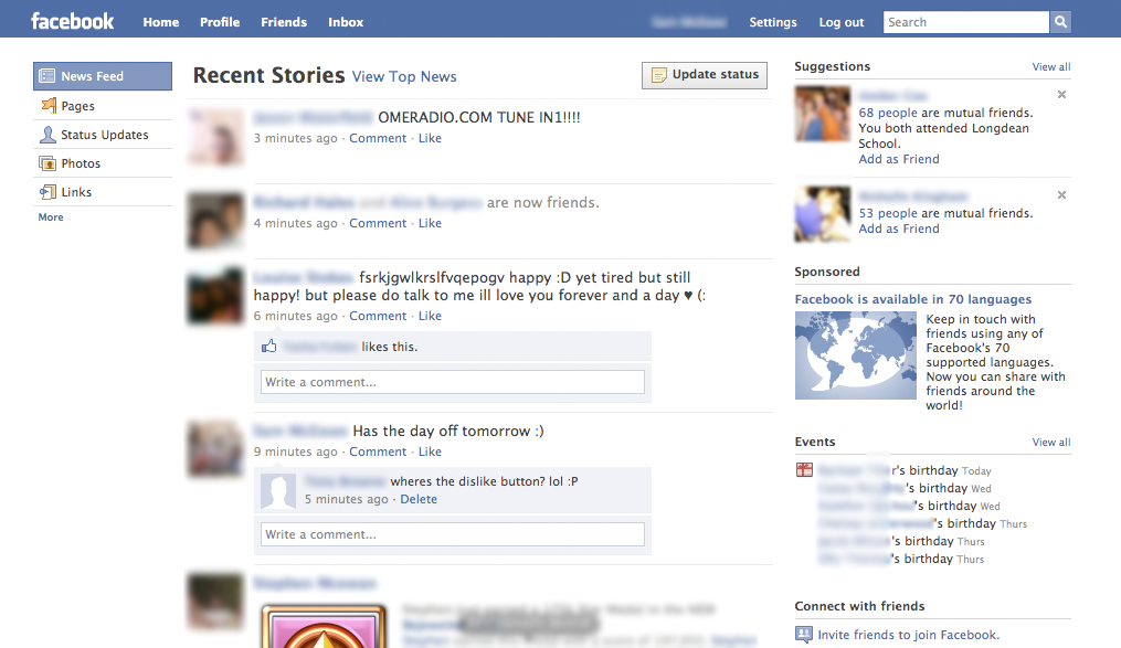 recent stories4 Confirmed: Facebook design refreshment in the works [Screenshots] (updated)