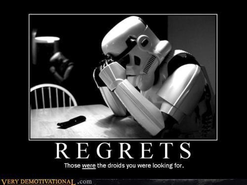 Regrets via VeryDemotivational.com