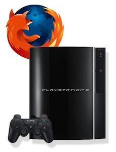 Firefox pS3 Firefox mira de reojo la PlayStation 3