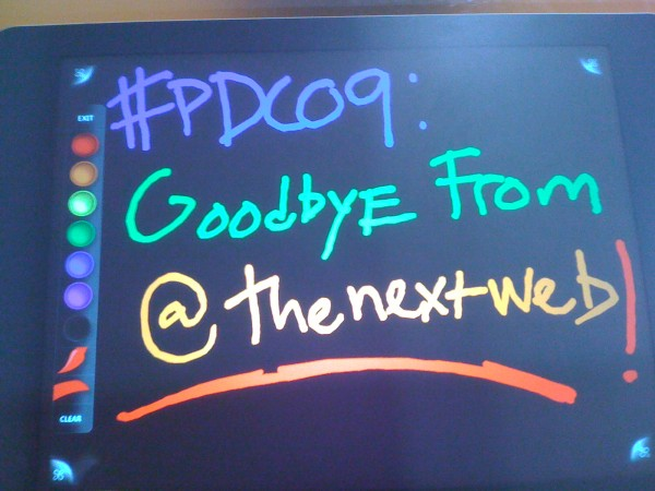 IMG 1013 600x450 Goodbye #PDC09   Its Been Fun