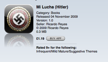 Picture 131 Apple approves a Hitler Book app with Nazi Symbol as its logo. How did no one catch this?