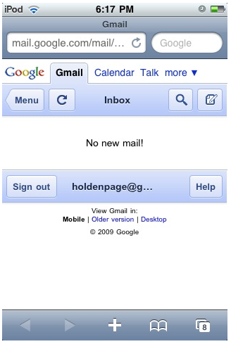 Google Apps for the iPhone Gets A Slicker UI