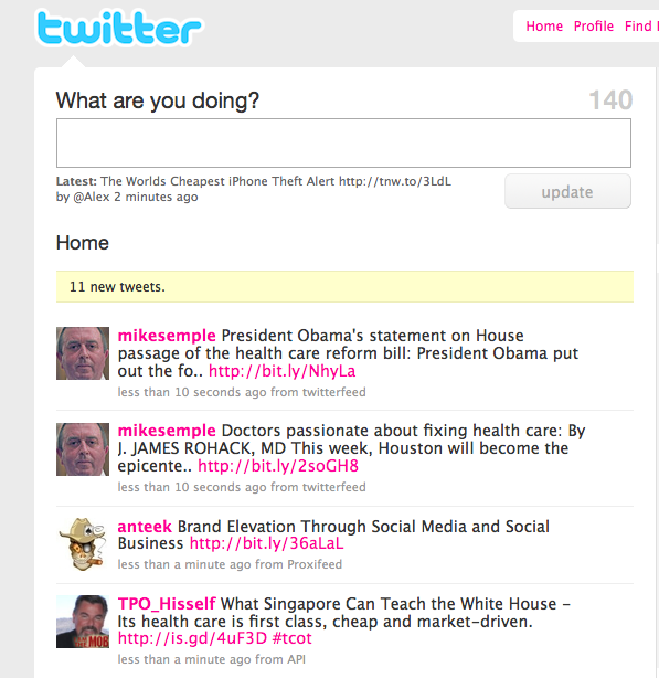 Screen shot 2009 11 08 at 09.28.39 Twitter updates Interface: no need to reload for new tweets!