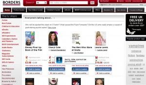 Borders.co.uk Suspends Sales
