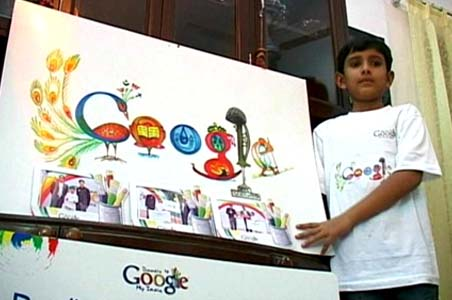 Puru Pratap Singh displays his doodle
