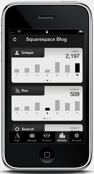 Squarespace iPhone App