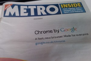 IMAG0038 300x200 Google advertises Chrome with giant UK newspaper ad (Update: Billboard ads too)
