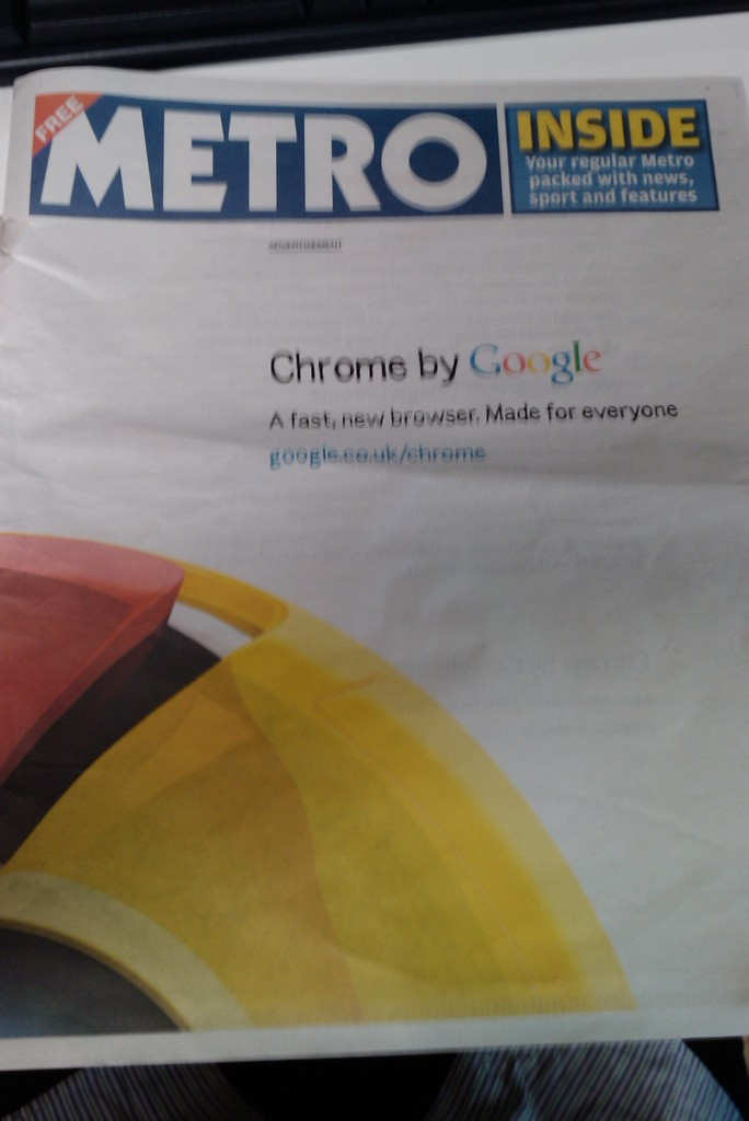 IMAG0039 684x1024 Google advertises Chrome with giant UK newspaper ad (Update: Billboard ads too)