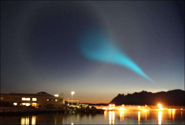 Blue tail ... stunned Norwegians