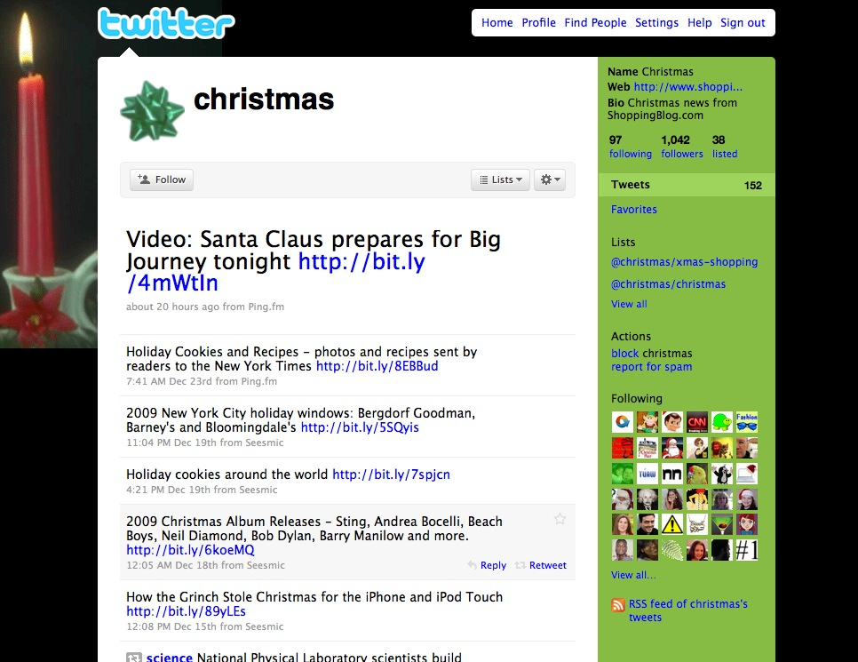 Picture 23 Its sad who owns @Christmas on Twitter.