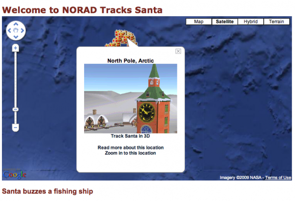 Screen shot 2009 12 24 at 10.17.21 600x409 Track Santas Progress Online in 2009