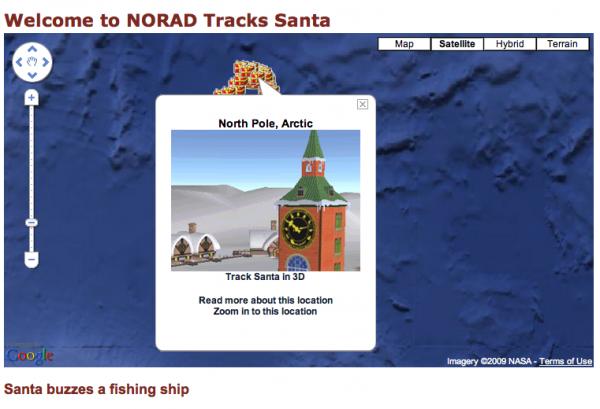 Norad Santa Screen Shot