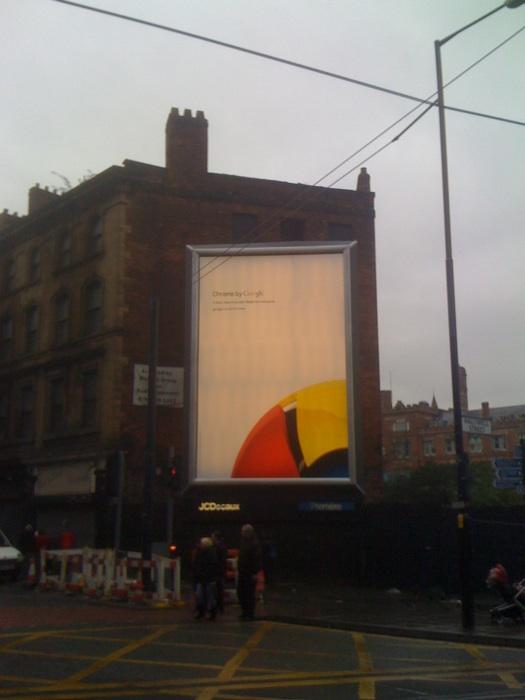 Google Chrome billboard ad by @technicalfault