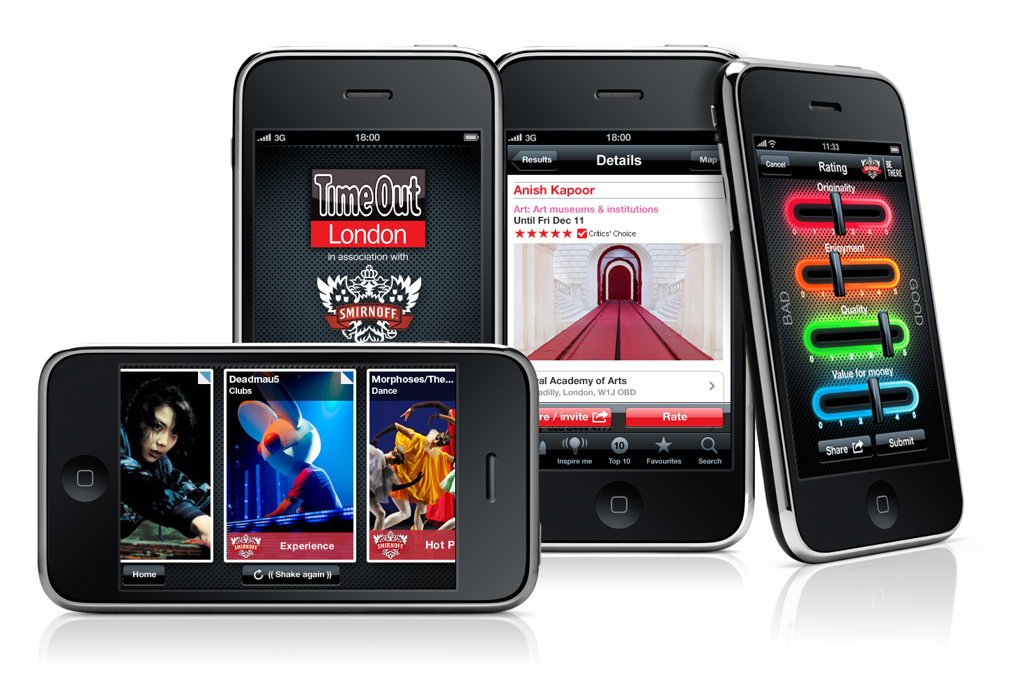 iPhones The New Smirnoff & Time Out iPhone is Set to Transform Londoners Social Lives