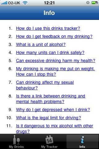 nhs2 NHS release iPhone app to track alcohol intake...will it make a difference though?