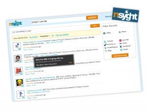 nsyght2 300x230 Nsyght   New Funding Invigorates Social Search Engine