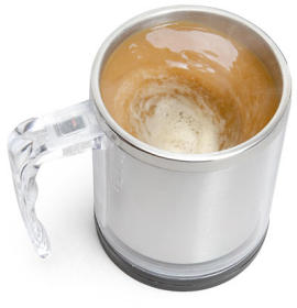Just when you think we couldn't get any lazier, enter the self stirring coffee mug.
