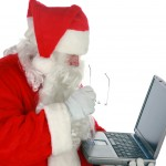 Santa on the laptop