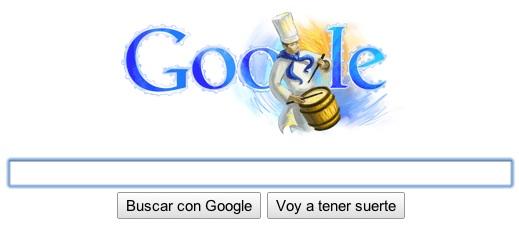 Google Tamborinada Hoy Google España funciona a toque de tambor