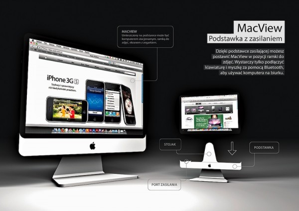 MacView iMac type stand 600x424 Weve saved the best for last. Probably the best Apple tablet concept yet.