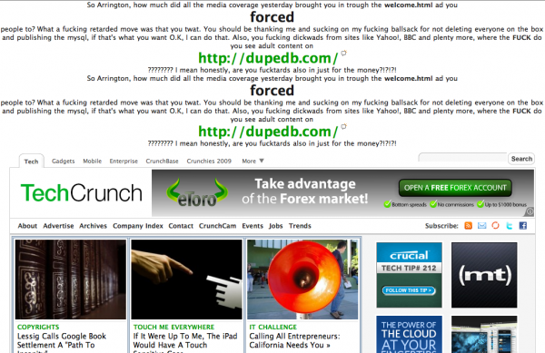 Picture 6 600x389 TechCrunch hacked again. This hacker is angry.
