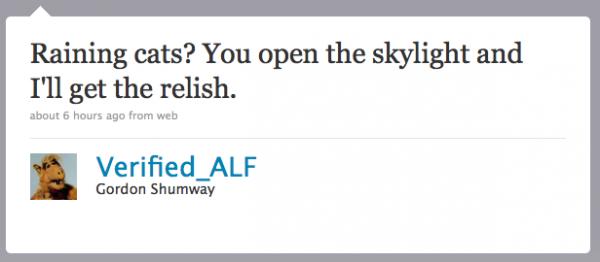Alf on Twitter
