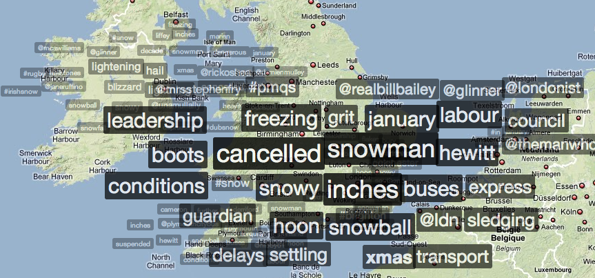 Screen shot 2010 01 06 at 14.31.16 Snow Joke: Twitter and Trendsmap predict weather forecast