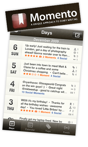 Untitled 1 Record Your Life with Momento, a Unique Approach to Diary Writing [iPhone App]
