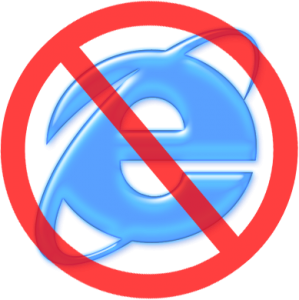 no ie 299x300 Finger weg vom Internet Explorer