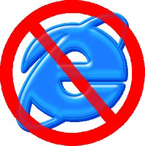 no ie 299x300 Finger weg vom Internet Explorer
