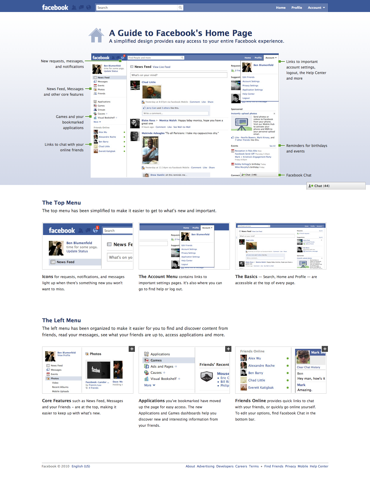 A Guide To Facebook's Brand New Homepage In One Handy Diagram