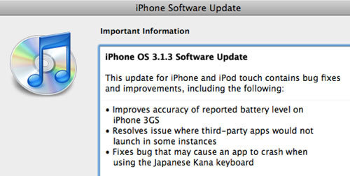 Don't get excited but there's an iPhone Firmware Update out now.