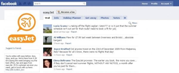 9999 easyjet facebook 600x246 Happy Landings in Social Media
