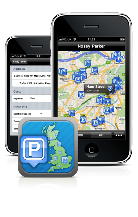 Home Screen Graphic v1 0 Nosey Parker: stress free carparking with your iPhone
