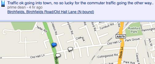 Google Buzz on a map