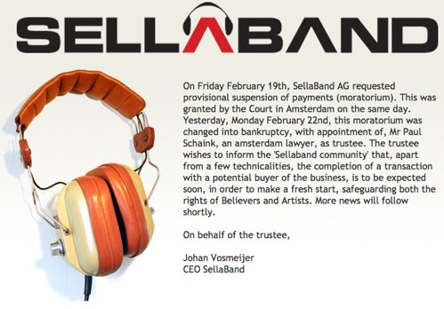 SellaBand 1 Sellaband now claims a possible acquisition, whos kidding who?