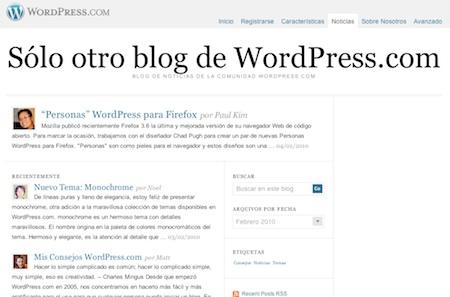 WP español La comunidad WordPress.com, ahora también en español