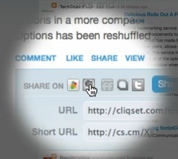 cliqset Cliqset integrates Evernote to create social scrapbook