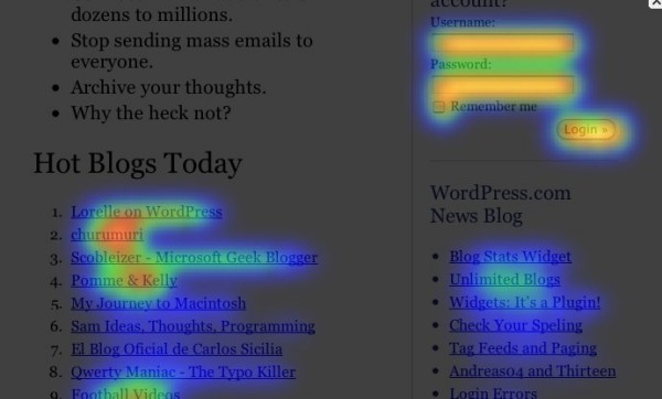 crazyegg heat map 790348 600x362 Social Media Marketing: 5 Easy Things That Should Be on Your To Do List