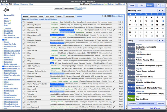 gmail calendar Awesomely Useful Ideas for Things You Can Do With Fluid App [Link]
